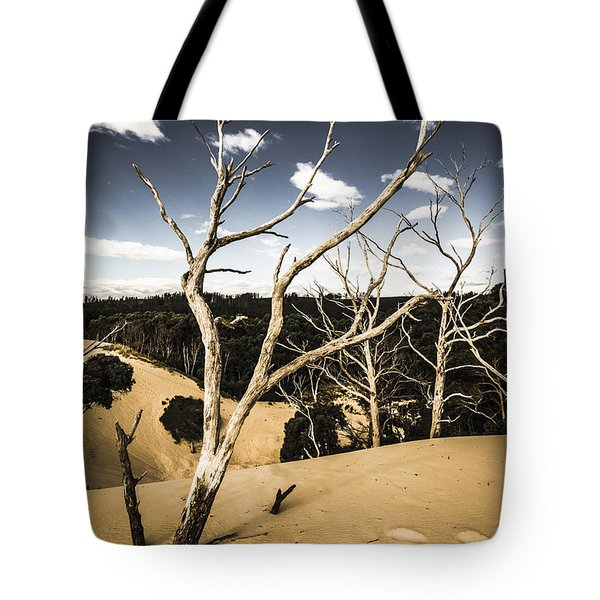 Desert In The Middle Of The Woods Tote Bag
