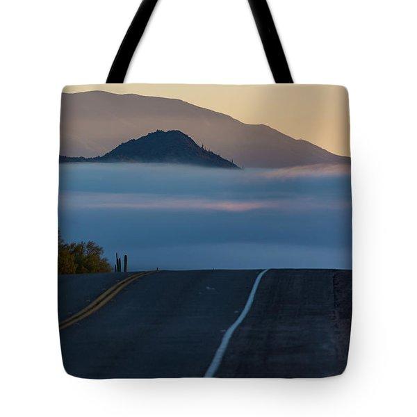 Desert Inversion Highway Tote Bag