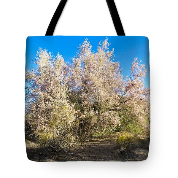 Desert Ironwood Tree In Bloom - Early Morning Tote Bag