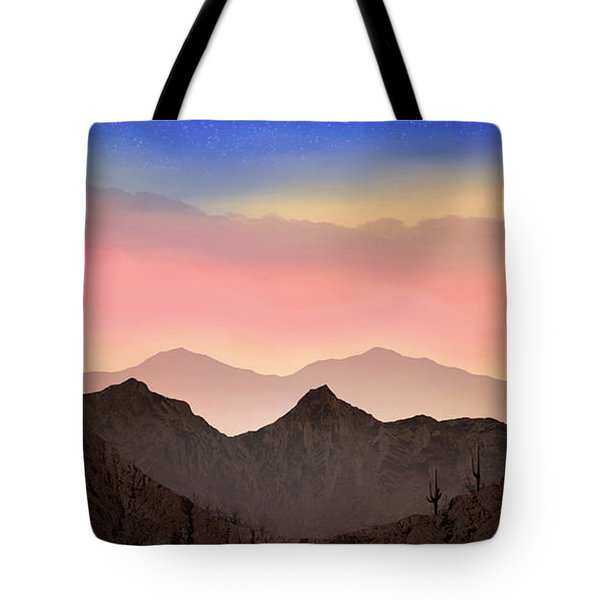Tote Bag featuring the photograph Desert Landscape by Anthony Citro
