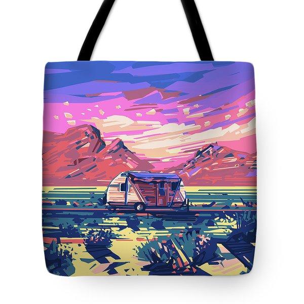 Desert Landscape Tote Bag by Bekim Art