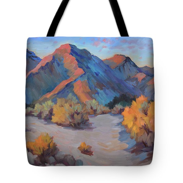 Tote Bag featuring the painting Desert Light by Diane McClary