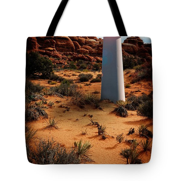 Tote Bag featuring the photograph Desert Lighthouse by Harry Spitz