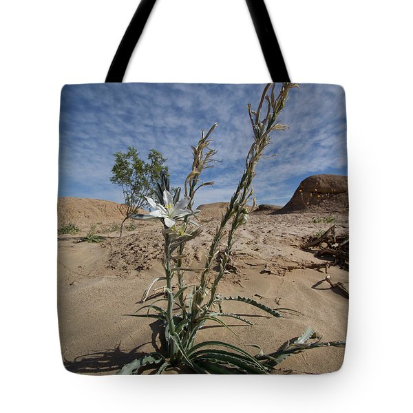 Tote Bag featuring the photograph Desert Lilly by Photography by Laura Lee