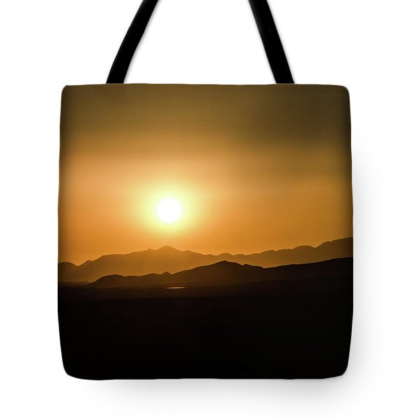 Desert Mountain Sunset Tote Bag