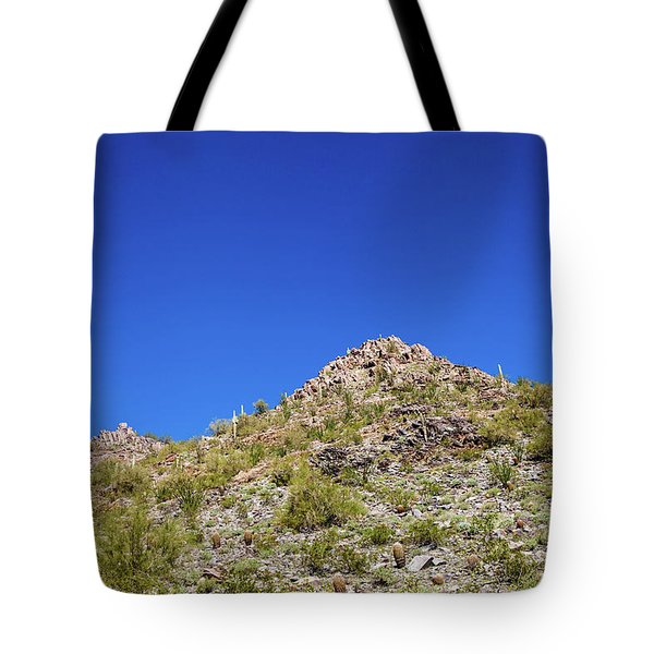 Tote Bag featuring the photograph Desert Mountaintop by Ed Cilley
