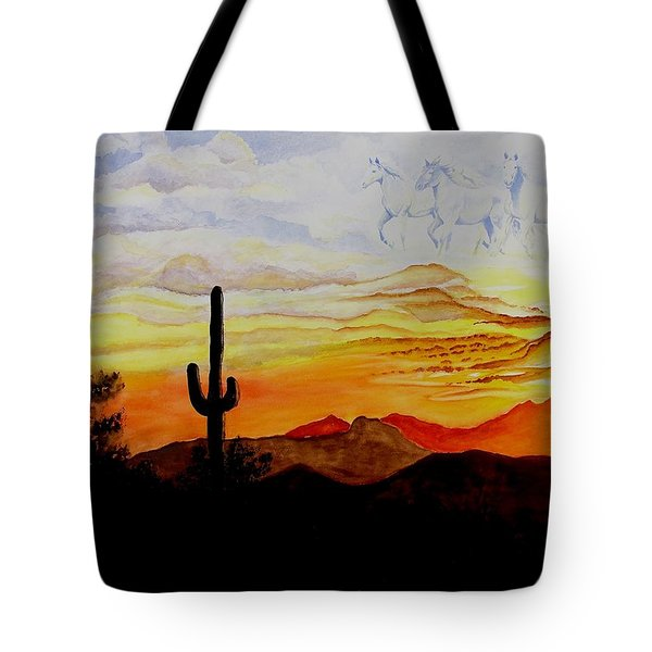 Desert Mustangs Tote Bag by Jimmy Smith