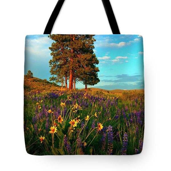 Desert Pines Meadow Tote Bag by Mike  Dawson