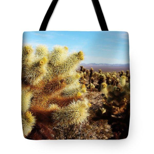 Desert Plants - Porcupine Cholla Tote Bag