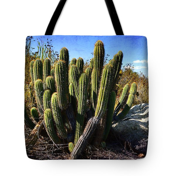 Tote Bag featuring the photograph Desert Plants - The Wild Bunch by Glenn McCarthy