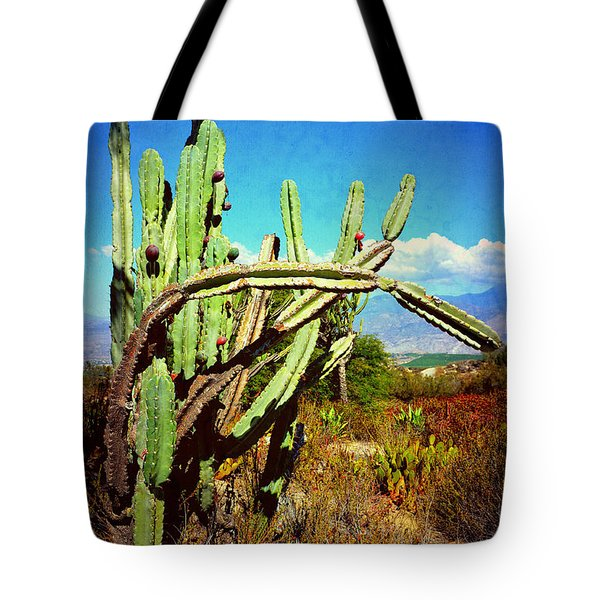 Tote Bag featuring the photograph Desert Plants - Westward Ho by Glenn McCarthy
