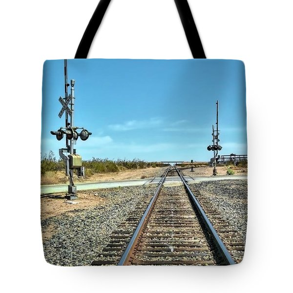 Desert Railway Crossing Tote Bag