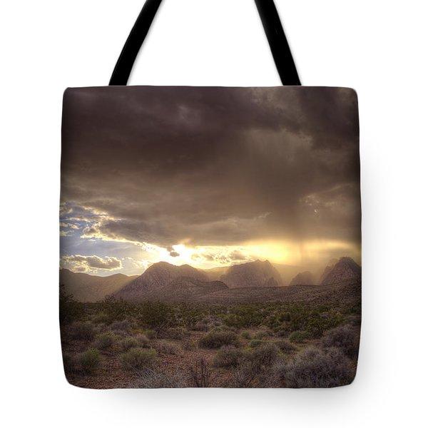 Desert Rain Tote Bag