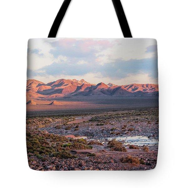 Desert River Sunset Tote Bag