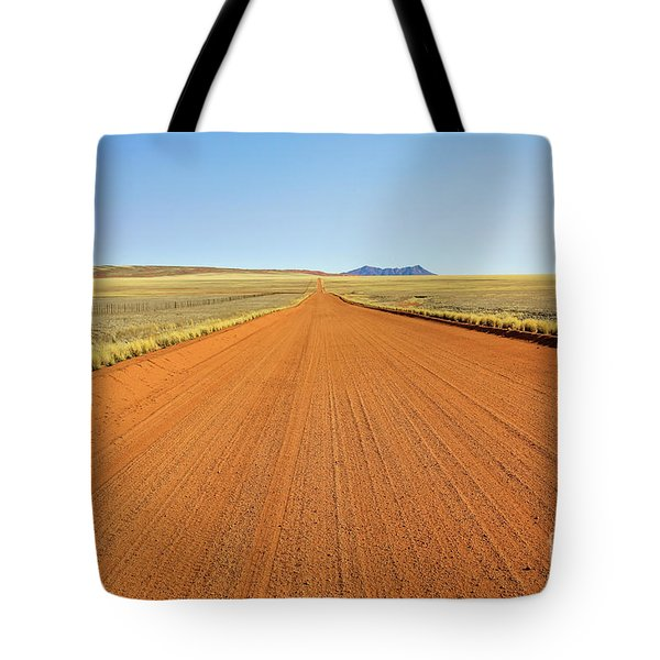 Tote Bag featuring the photograph Desert Road by Benny Marty