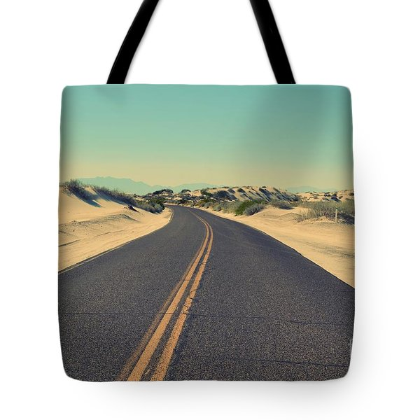 Tote Bag featuring the photograph Desert Road by MGL Meiklejohn Graphics Licensing