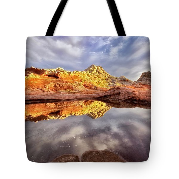 Desert Rock Drama Tote Bag by Nicki Frates