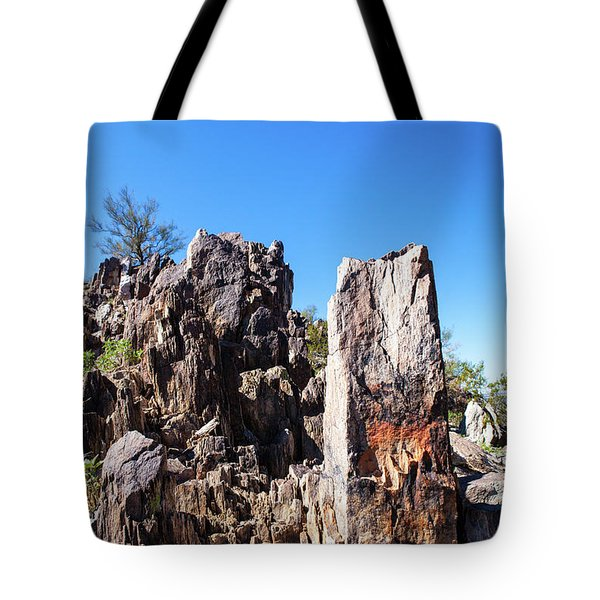 Tote Bag featuring the photograph Desert Rocks by Ed Cilley