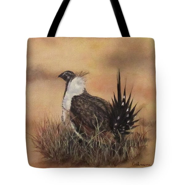 Desert Sage Grouse Tote Bag by Roseann Gilmore