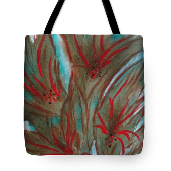 Tote Bag featuring the painting Desert Spirits by Sharyn Winters