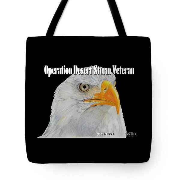 Desert Storm Eagle Tote Bag by Bill Richards