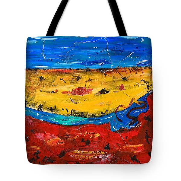 Desert Stream Tote Bag