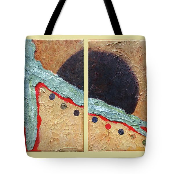 Tote Bag featuring the painting Desert Sun I by Phyllis Howard