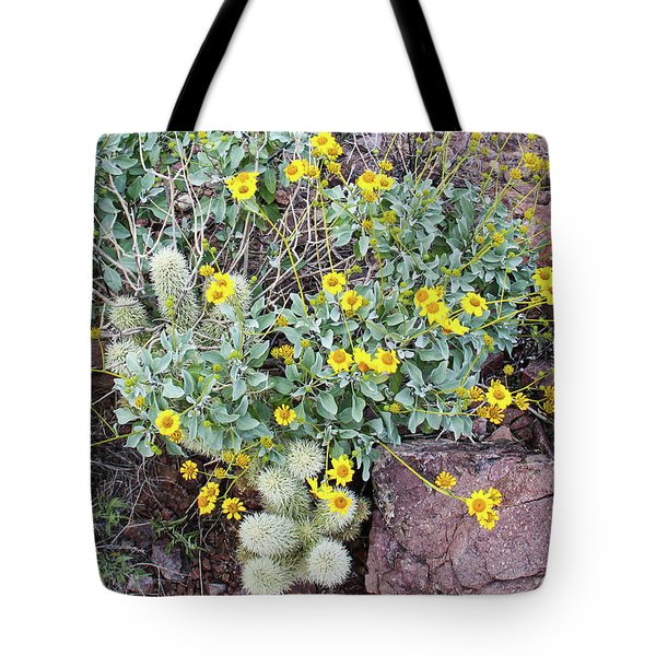 Tote Bag featuring the photograph Teddybear Cactus Bouquet by Lon Dittrick