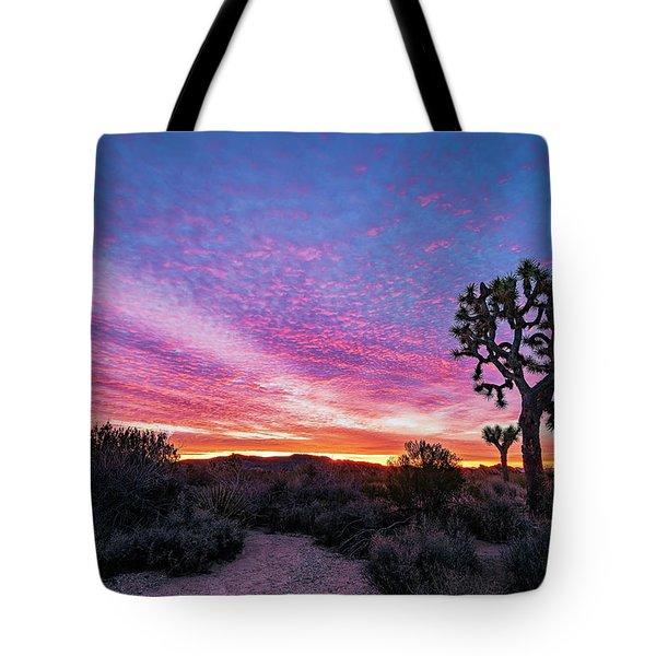 Desert Sunrise At Joshua Tree Tote Bag