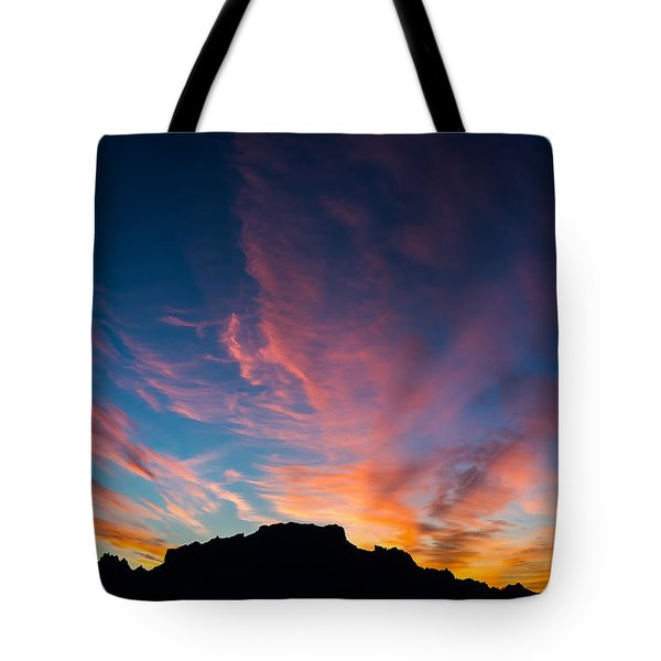Tote Bag featuring the photograph Desert Sunrise by Mary Hone