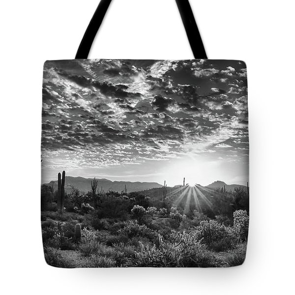 Tote Bag featuring the photograph Desert Sunrise by Monte Stevens
