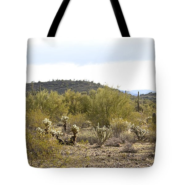 Tote Bag featuring the photograph Desert Sunrise by Phyllis Denton
