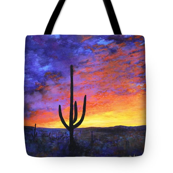 Desert Sunset 4 Tote Bag