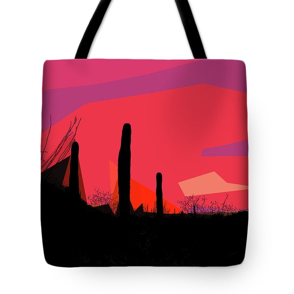 Desert Sunset In Tucson Tote Bag