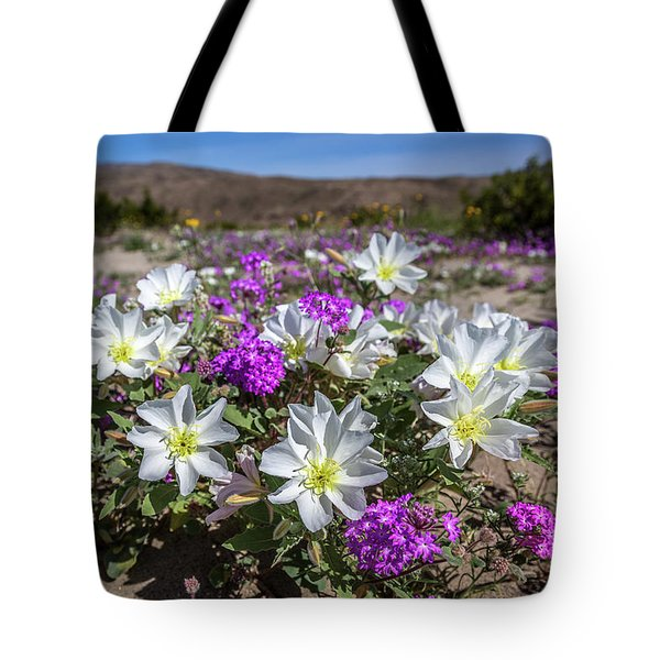 Tote Bag featuring the photograph Desert Super Bloom 2017 by Peter Tellone