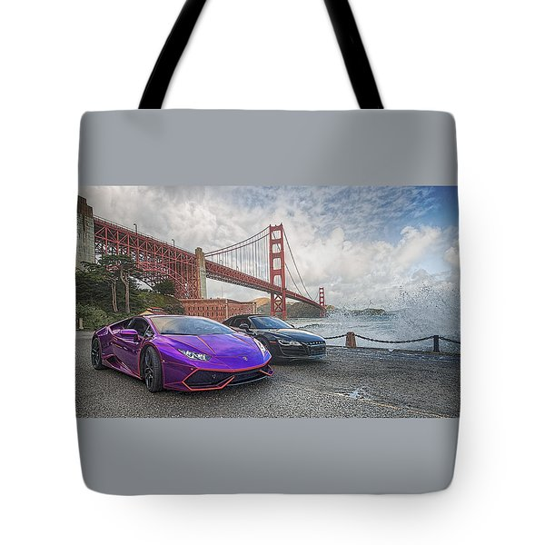 Tote Bag featuring the photograph Desert To Bay Rally 2016 by Steve Siri