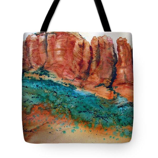 Desert Towers Tote Bag by Karen Stark