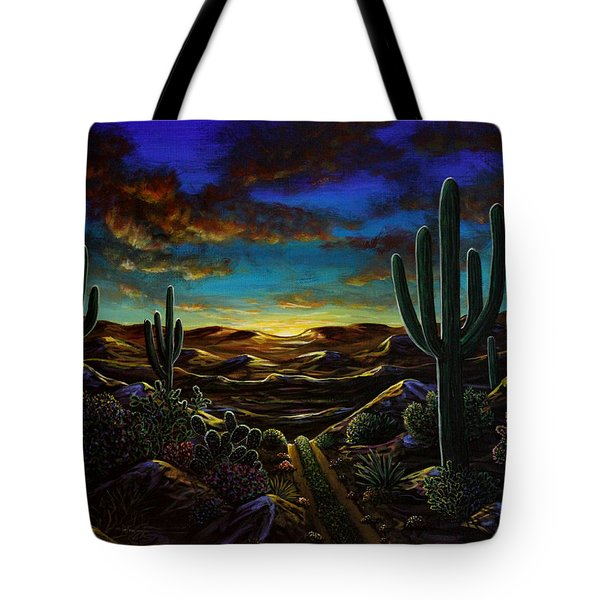 Desert Trail Tote Bag by Lance Headlee