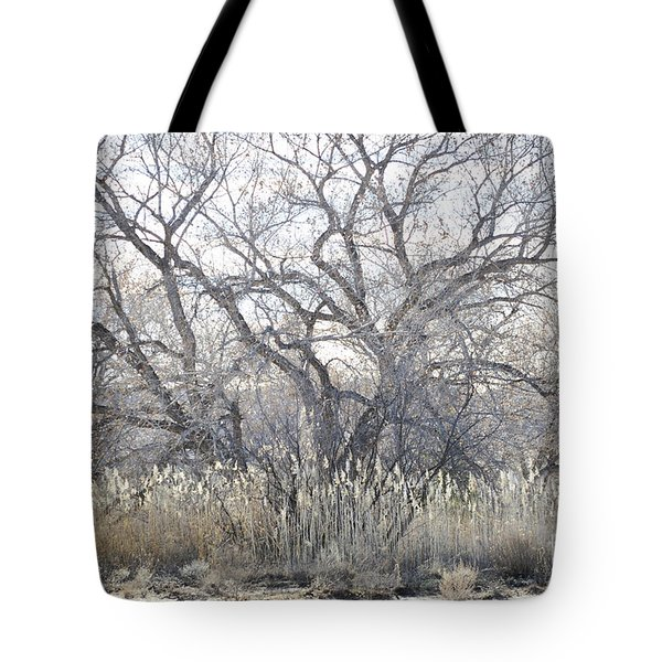 Tote Bag featuring the photograph Desert Tree Willows by Andrea Hazel Ihlefeld
