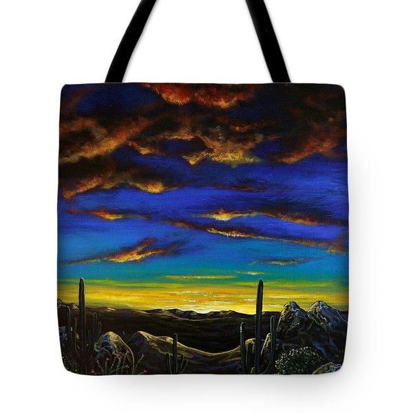 Desert View Tote Bag by Lance Headlee