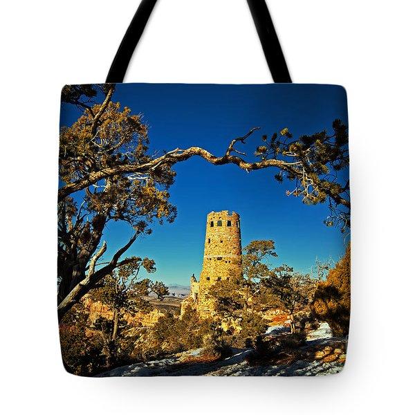Desert View Watchtower, Grand Canyon National Park, Arizona Tote Bag