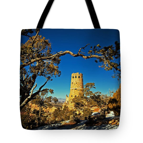 Desert View Watchtower, Grand Canyon National Park, Arizona Tote Bag
