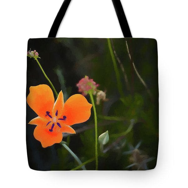 Tote Bag featuring the photograph Desert Wildflower 2 by Penny Lisowski