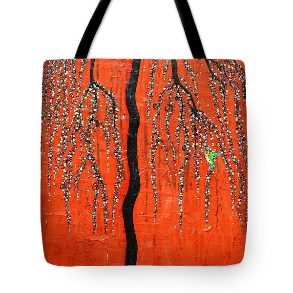 Tote Bag featuring the mixed media Desert Willow by Natalie Briney