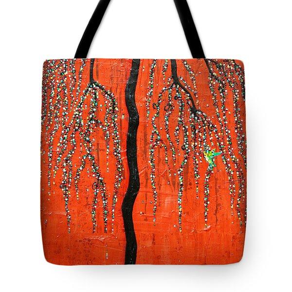 Desert Willow Tote Bag by Natalie Briney