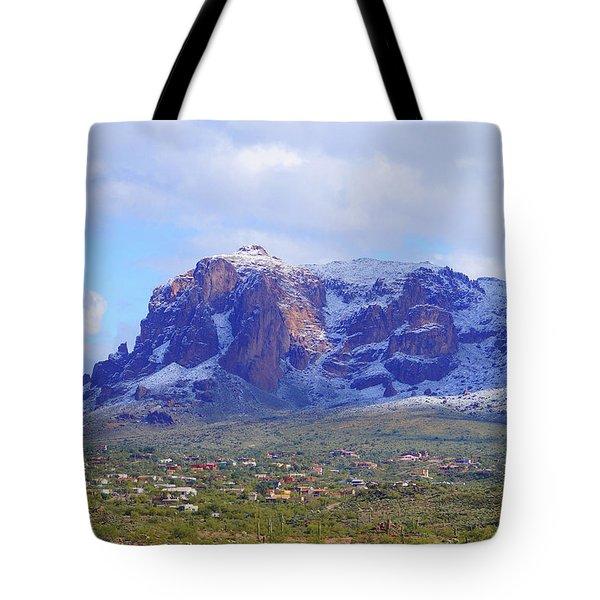 Desert Winter Tote Bag