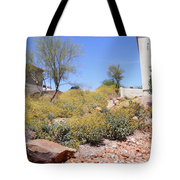 Desert Yard Tote Bag by Adam Cornelison