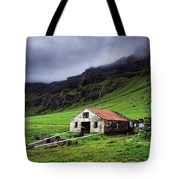 Deserted Barn In Iceland Tote Bag