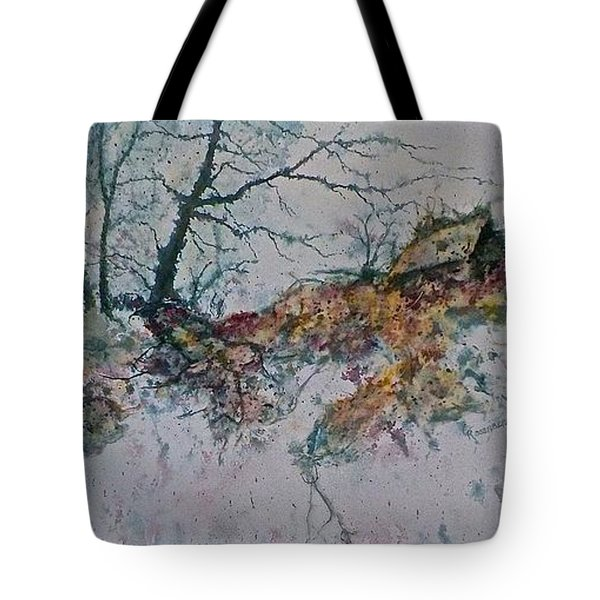 Tote Bag featuring the painting Deserted Clearing by Carolyn Rosenberger