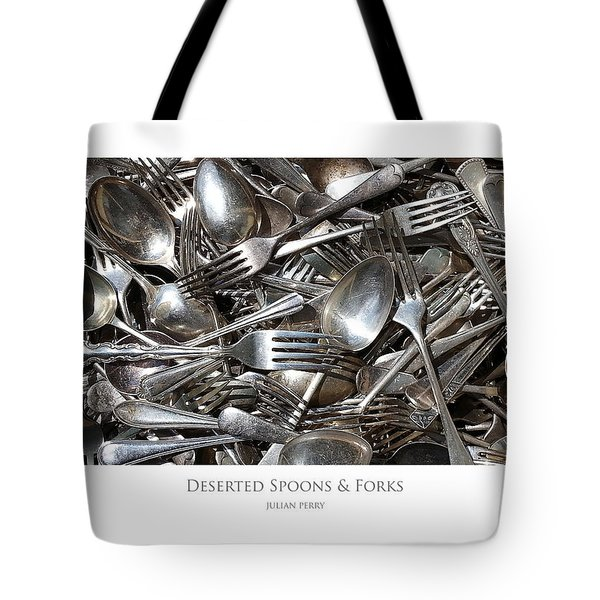 Tote Bag featuring the digital art Deserted Spoons And Forkes by Julian Perry